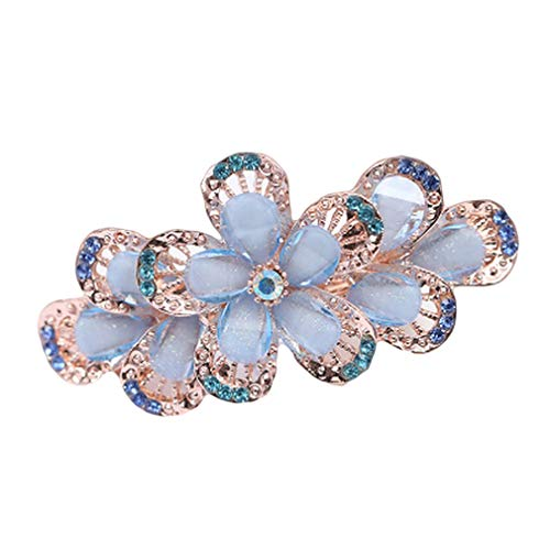 Pinhan - Horquilla para el pelo con flores de cristal, diseño vintage...