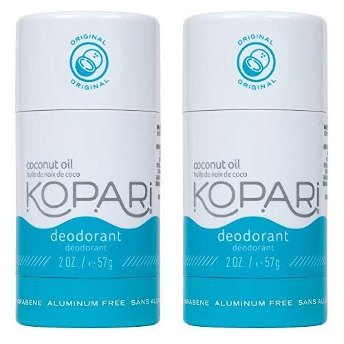 Kopari Aluminum-Free Deodorant Original | Non-Toxic, Paraben Free, Gluten Free & Cruelty Free Men's and Women's Deodorant | Made with Organic Coconut Oil | 2 Pack, 2.0 oz