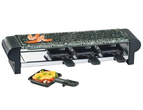 Küchenprofi Raclette HOT Stone Quattro schwarz, Kunststoff