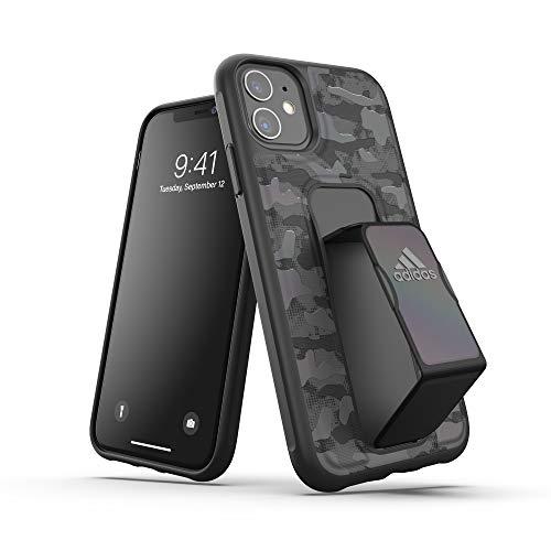 adidas Sports Kompatibel mit iPhone 11 Hülle, Handgriffiger Handgriff Stand, Schutzhülle Handyhülle - Tarnfarbe Schwarz