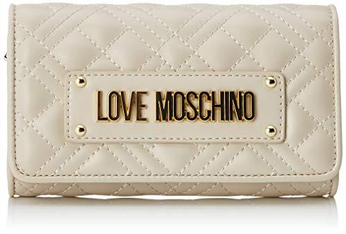 Love Moschino Damen Jc5623pp0a Geldbeutel, Elfenbein (Ivory), 4x10x17 Centimeters