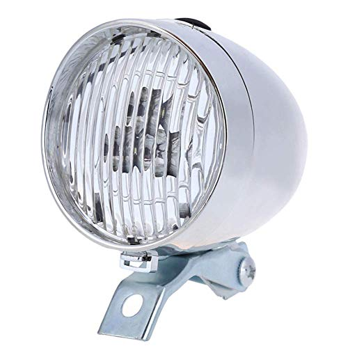 Retro Classic Vintage Fahrrad Fahrrad Licht 3 LED Front Licht Scheinwerfer Old Style Taschenlampe Lampe,StVZO Zugelassen