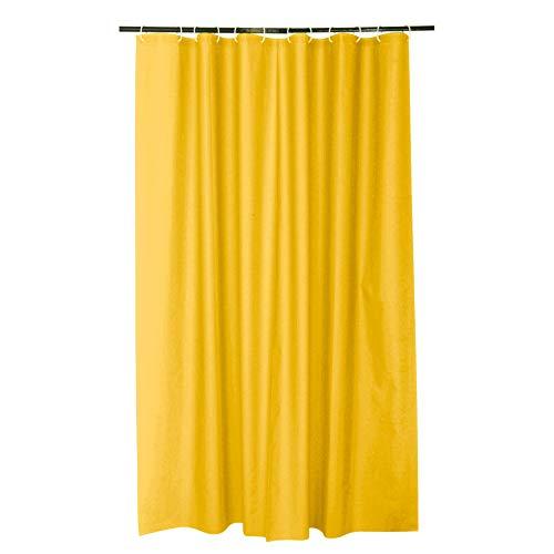 Douceur d'Intérieur Duschvorhang, 180 x 200 cm, einfarbig, Vitamin Honig