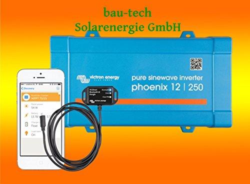 Spannungswandler Victron Phoenix 12V-250Watt VE.Direct reiner Sinus Inverter inklusiv Victron Bluetooth Smart Dongle von bau-tech Solarenergie GmbH
