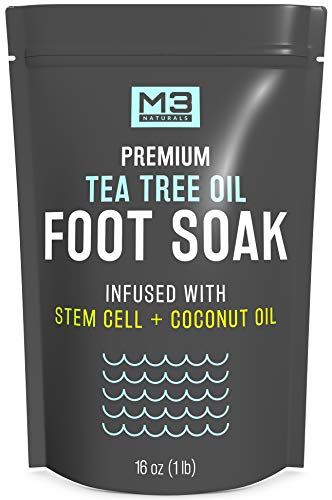 M3 Naturals Tea Tree Oil Foot Soak Infused with Stem Cell and Coconut Oil 16 oz