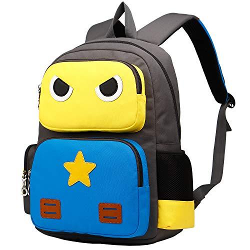 SIVENKE Mochila infantil para niños de 5 a 10 años Mochila de 15L mochila mochila mochila escolar mochila mochila escolar mochila escolar niños niñas 40 * 30 * 10 cm amarillo azul