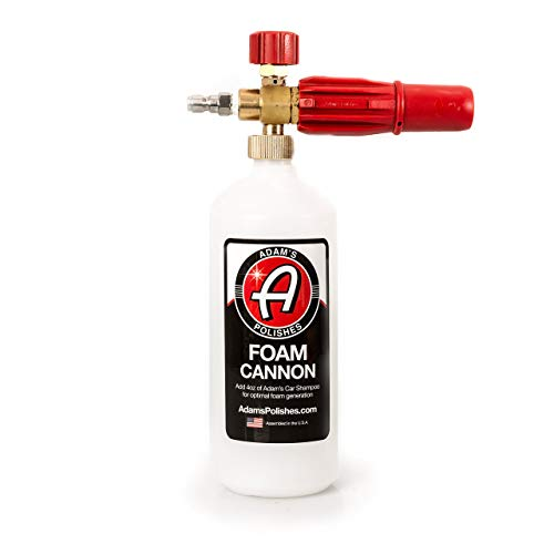 Adam's Red Foam Cannon - Produces Unbelievably Thick Snow Foam - Adjustable Air Intake Valve,...