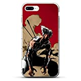 GJGSWY Case for Apple iPhone 7 Plus/8 Plus, One-Punch Saitama-Genos 5 Clear Silikon Coque Print Soft Shockproof Slim Soft TPU Phone Case