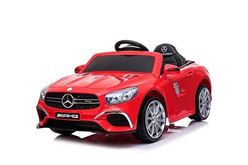 Auto Macchina Elettrica per Bambini Mercedes SL63 12v Fari Led Suoni Telecomando (Rosso)