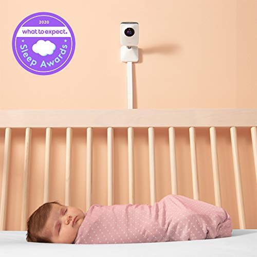 Miku Smart Baby Monitor - Breathing & Movement Monitor - HSA/FSA Approved - Real-Time Breathing & Sleep Tracking - HD Video & Audio, Night Vision, Two-Way Talk, Sound, Humidity & Temperature