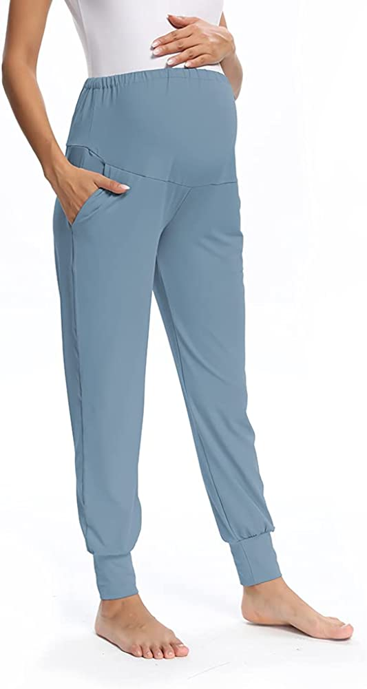 Animer and price revision Women's Maternity Pants Stretch Full Max 41% OFF Fit Length Secret Leg Belly