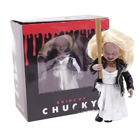 XKMY Juguetes coleccionables de PVC para niños con diseño de novia de Chucky Tiffany de PVC, figura de acción coleccionable, modelo de juguete de terror (color: en caja)
