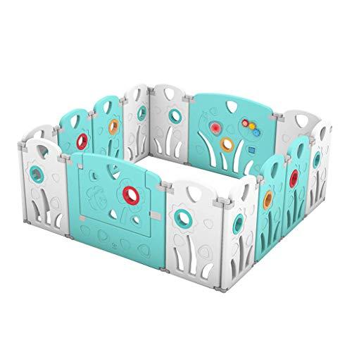 Relaxbx baby-speel-hek kind-veiligheidshek binnenbescherming hek speelplaats, de compacte activiteiten bekleding vouwt (afmetingen: 146 x 146 x 64 cm)