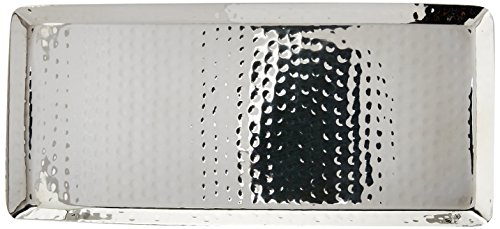 Godinger Hammered Rectangular Tray, 11-Inch by 5-Inch
