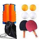 DoGeek Tenis de Mesa Portable Pingpong Table Adecuado para Escuela, Familia, Club Deportivo, Oficina (Azul-Naranja)