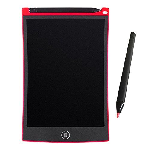 AUNICE LCD Writing Tablet, 8,5' LCD Grafiablet/Scrittura Tablet/taccuino elettronico/Senza Carta Tablet Grafica con Penna per Scrivere e disegnare Bambini Bambini Insegnanti – Rosso