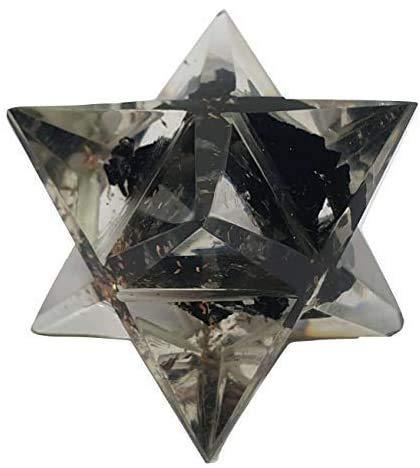 Eclectic Shop UK Negro Turmalina Piedra Merkaba Orgonica Reiki Gemas Espiritual Curativo Geometría Sagrada Orgonica Orgonite (por favor Leer Qué Orgonica Es)