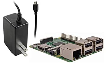 Raspberry Pi 3 Model B : 【2016年11月10日 発売品】 RSコンポーネンツ 日本工場生産品 専用電源(ブラック) : 【公式】Raspberry Pi 3 model B 専用電源 ACアダプタ(ブラック) 5.1V/2.5A