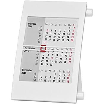 - mit Drehmechanik 2021 /& 2022 schwarz//schwarz Truento 3-Monats-Tischkalender f/ür 2 Jahre