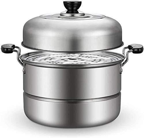 yunyu Cuisinière à Vapeur en Acier Inoxydable Ensemble de Cuisine Cuisinière à Induction Cuisinière à gaz Universelle (30 cm)