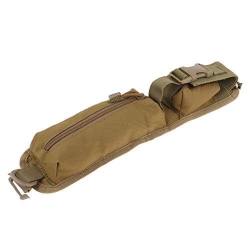 perfk Rucksack Schultergurt Reisetasche – Rucksack Aufsatz für Wanderer, Reisende, Studenten - Braun