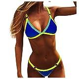 YANFANG Mujeres Bandeau Bandage Bikini Set Push-Up Traje de baño brasileño Ropa de Playa Traje de baño,Bikini de Moda de Verano Push Up Traje de baño Acolchado
