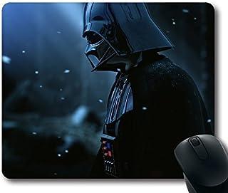 Custom ratón para videojuegos con Darth Vader Armor película de Star Wars gorro nieve antideslizante goma de neopreno tamaño estándar 22,86cm (mm) X 7cm (180mm) X 1/8(3mm) escritorio Mousepad Laptop Mousepads cómodo alfombrilla para ratón de ordenador