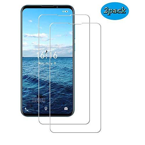 MSOSA Kompatibel mit Panzerglas Meizu 16XS Schutzfolie, [2 Stück] 9H Festigkeit Panzerglasfolie HD Bildschirmschutzfolie Vollständige Abdeckung Glas Folie für Meizu 16XS-Transparent