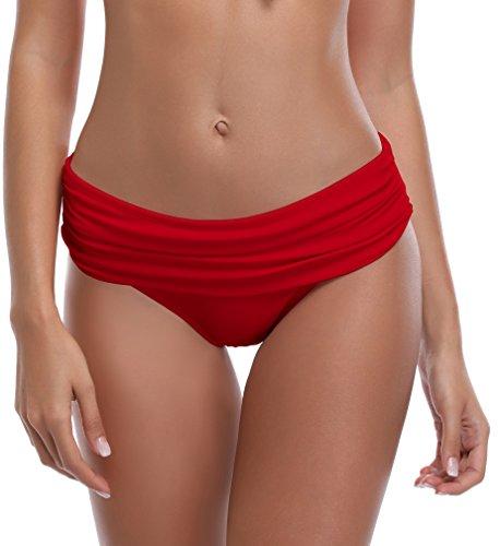 SHEKINI Mujer Braguita de Bikini Cintura Alta Pantalón la Parte de Abajo Bikini Interior Braguitas Bañador Traje de Baño
