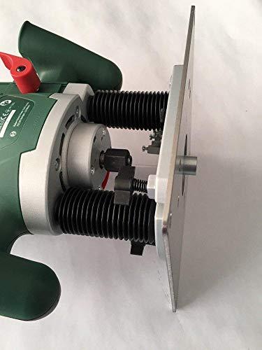Tuneon Platte Einlegeplatte Stahl Frästisch für Bosch POF 1400 ACE 1200 AE Oberfräse Groß