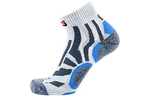 WÜRTH MODYF Arbeitssocken Summer grau blau: Leichte Socken aus technischem Gewebe für Sicherheitsschuhe sind in der Größe 45-47 erhältlich.