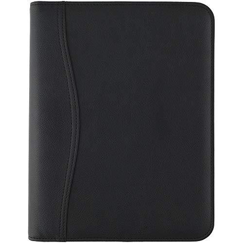 AT-A-GLANCE 031-0340-05 - Juego de iniciación sin fecha de piel sintética, tamaño de escritorio, color negro
