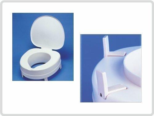 Toilettensitzerhöhung Toilettenaufsatz Toilettensitz Plus 15 cm, mit Deckel! *Top Qualität zum Top Preis*