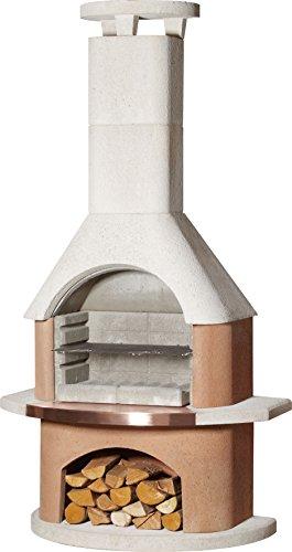 Buschbeck 90074.001 Grillkamin San Remo, weiß-terrakotta