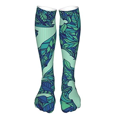 Calcetines atléticos unisex para yoga, jardín, transpirable, para correr, con pestaña, con suela de cojín