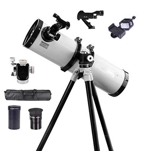 Adultos Profesional Telescopio Astronómico, Travel Scope, 750mm Longitud Focal 150mm Abertura Telescopio Reflector 354X Ampliación con Adaptador De Teléfono Bolsa De Transporte-750150