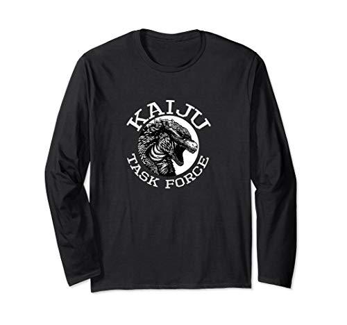 Kaiju Task Force Giant Monster Japan graphic logo design Long Sleeve T-Shirt