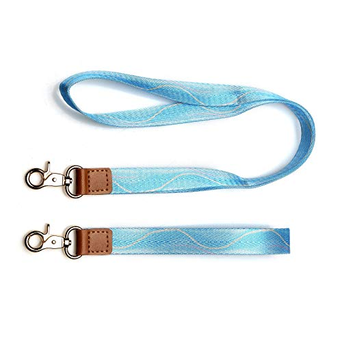 Cool Lanyards - Wristlet Strap and Neck Straps Lanyard Combo,Key Chain Holder,Hand Wrist Lanyard Key Chain Holder,Cool Neck Strap Key Chain Holder