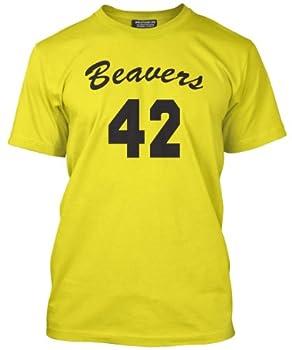 Beavers 42 Yellow Teen Wolf Basketball Tee, S to XL