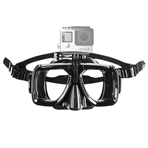 Mantona duikbril met bevestiging (voor GoPro Hero 6 5 4 3+ 3 2 1, Session en andere compatibele actiecams)
