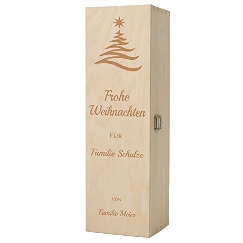 HISTORIA Weinkiste aus Holz als persönliches Geschenk mit Gravur zu Weihnachten - Das individuelle