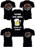 Pacchetto Tshirt Addio al Celibato - Datemi Una Birra, Sono...