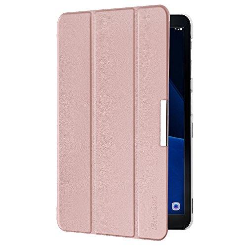 EasyAcc Cover Custodia per Samsung Galaxy Tab A 10.1, Ultra Sottile Smart Cover in Pelle con Sonno/Sveglia la Funzione Compatibile per Samsung Galaxy Tab A 10.1 (2016) SM-T580 / T585 - Oro Rosa