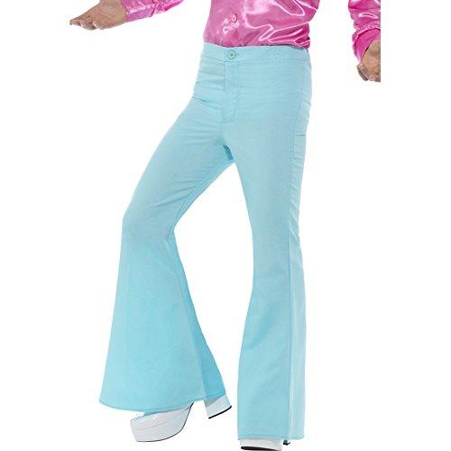Smiffy'S 48193M Pantalones De Campana Para Hombre, Azul, M - Tamaño 38