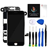 for iPhone 8 Plus Screen Replacement Kit Black 5.5' LCD Display iPhone 8 Plus Replacement Touch Screen Digitizer Full Assembly with Front Camera+ Earpiece+ Repair Tools Kit+ Screen Protector (Black)