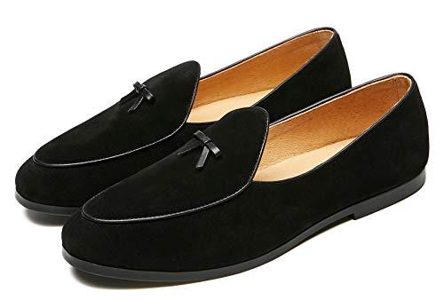 Men's Vintage Loafers for Men Belgian Loafers Slip-on Loafer Penny Loafer Casual Loafers US 8 Black