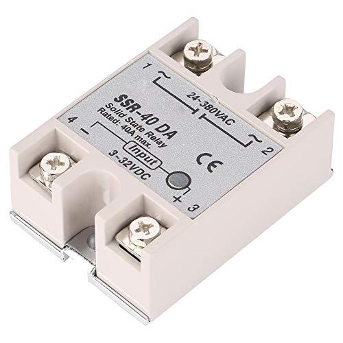 Halbleiterrelais, Einphasiges DC AC SSR-40DA 40A 3-32 V DC / 24-380 V AC Halbleiterrelais Modul
