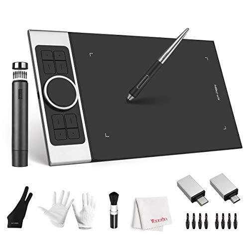 XP-Pen Deco Pro Medium Grafiktablett 8192 Druckzeichnungstablett, batteriefreier Stift, Neigefunktion, 27,9 x 15,2 cm Animationstablett 8 Hotkey, funktioniert mit Windows 10/8/7, Mac OS, Android 6.0