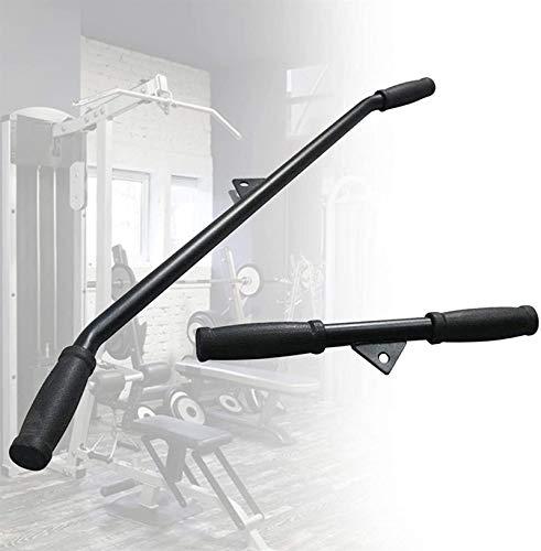 WXking Entrenamiento de fuerza Tirar hacia abajo Barra recta, accesorio de la máquina del cable Lat con empuñaduras de goma antideslizantes para el gimnasio profesional del gimnasio Elevación de energ