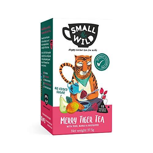 Small & Wild - Merry Tiger Children's Fruit Tea - Mango, Raspberry and Pear - 6 x 15 Tea Bags (90 Total)